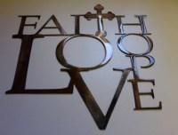Faith Hope And Love Wall Decor - Wall Decor Ideas