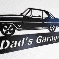 2018 Latest Car Metal Wall Art