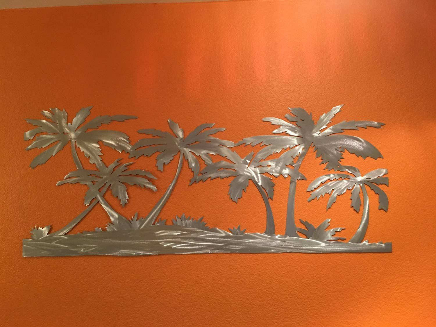 Tropical Artwork 2018 Best Of Palm Tree Metal Wall Art