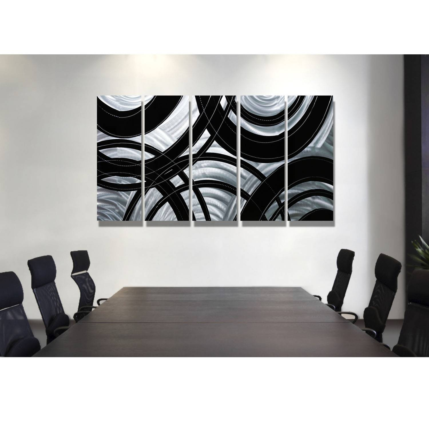 The Best Black And Silver Metal Wall Art