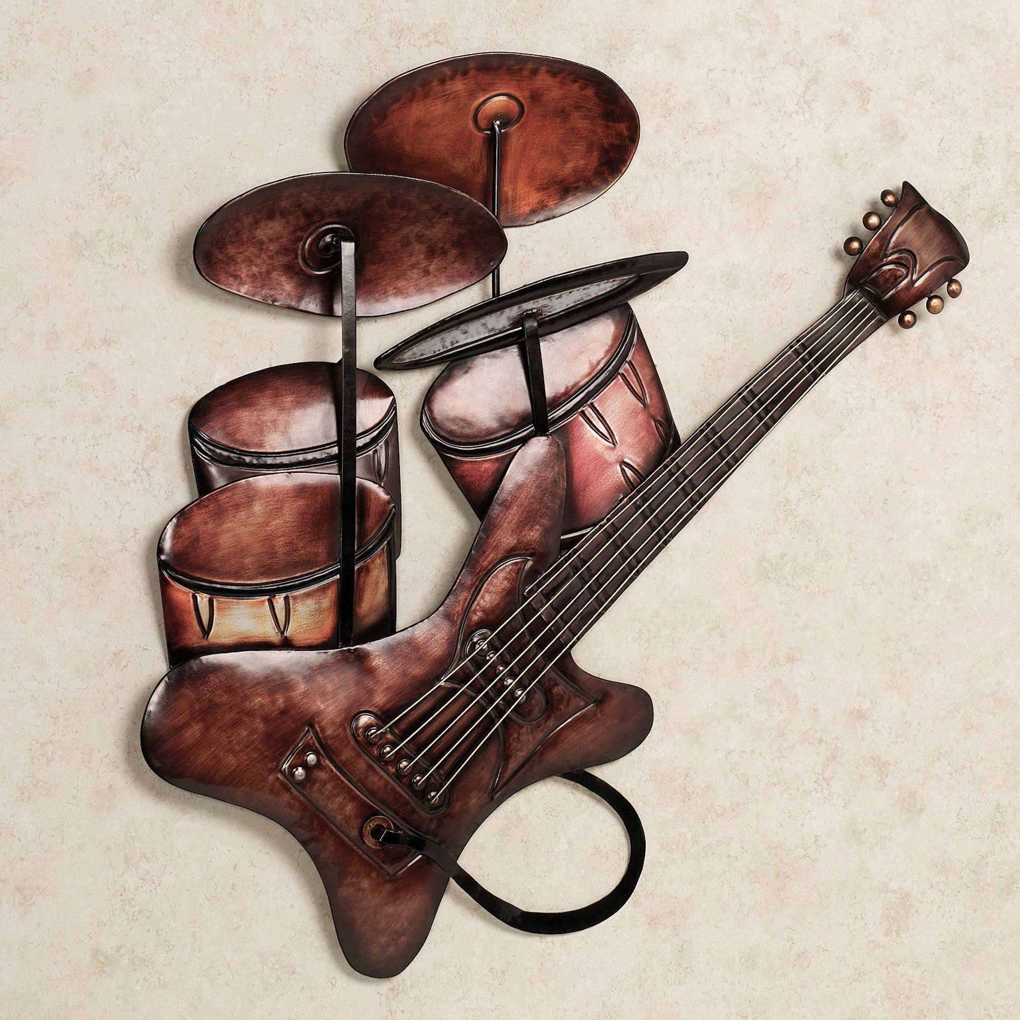 Metal Music Wall Art 20 Best Musical Instruments Metal Wall Art