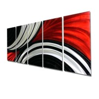 20 Photos Red Tree Metal Wall Art
