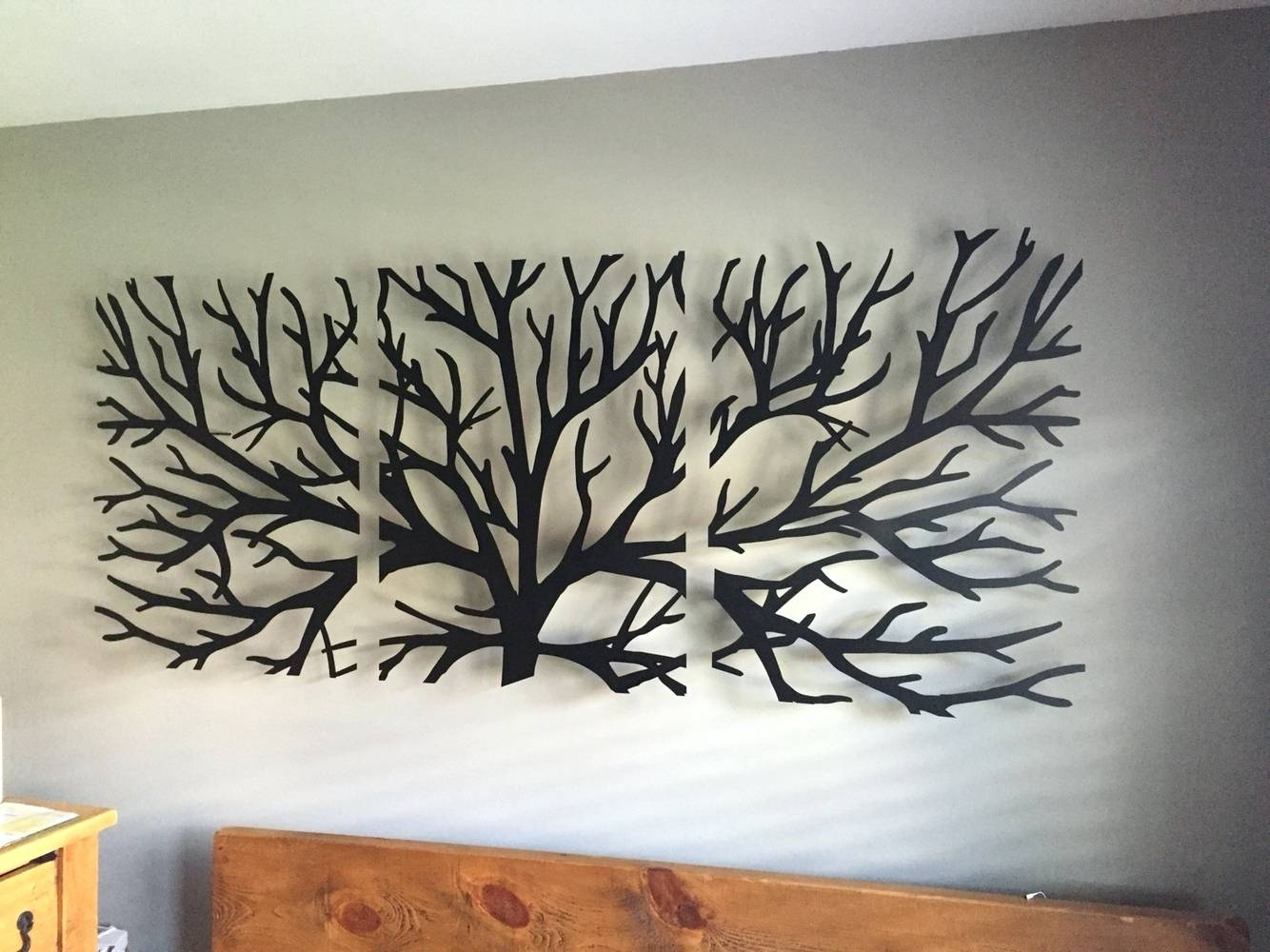 Metal Artwork Home Decor 20 Ideas Of Branches Metal Wall Art