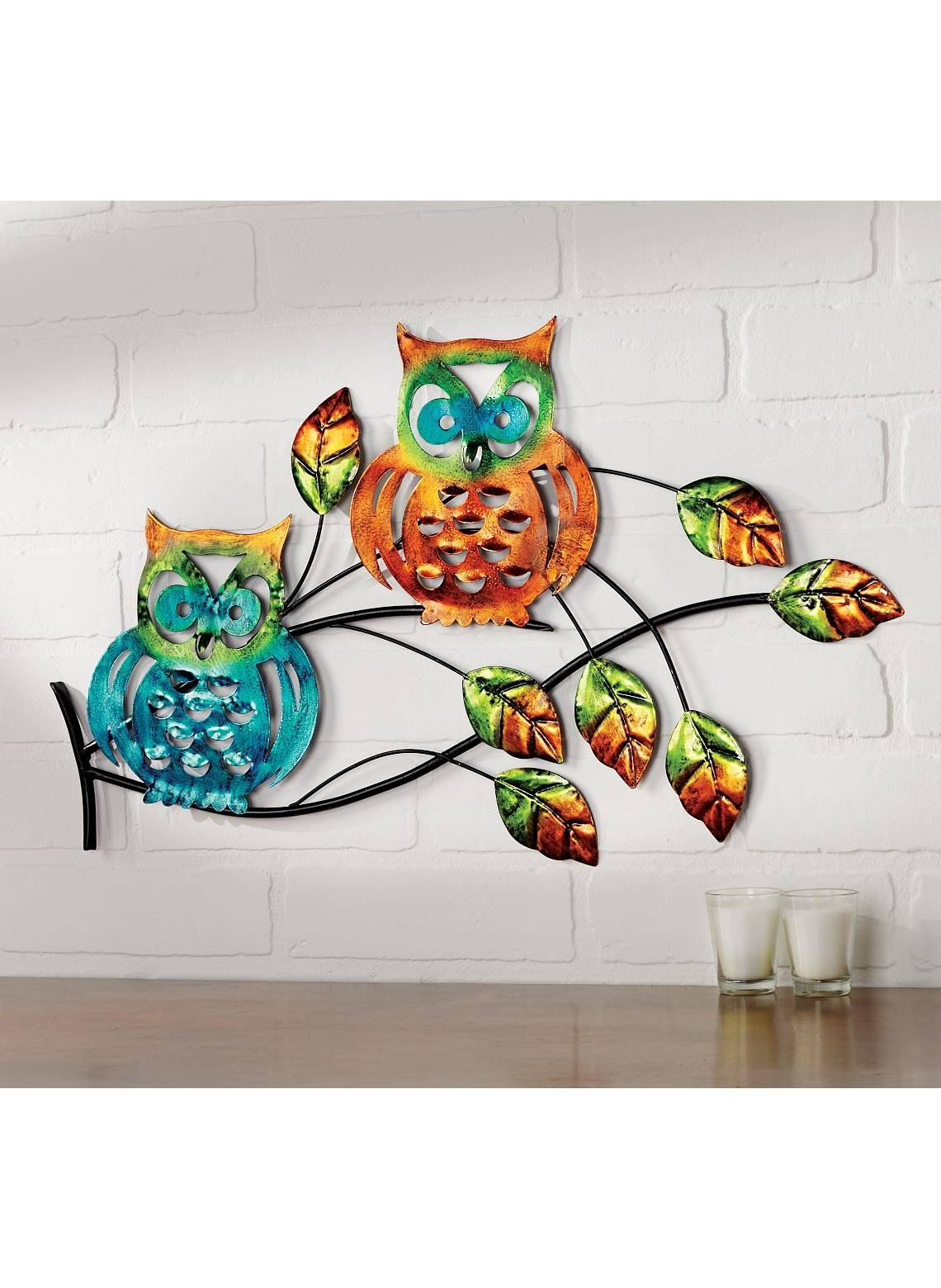 Owl Home Decor Accessories 20 Inspirations Of Owls Metal Wall Art