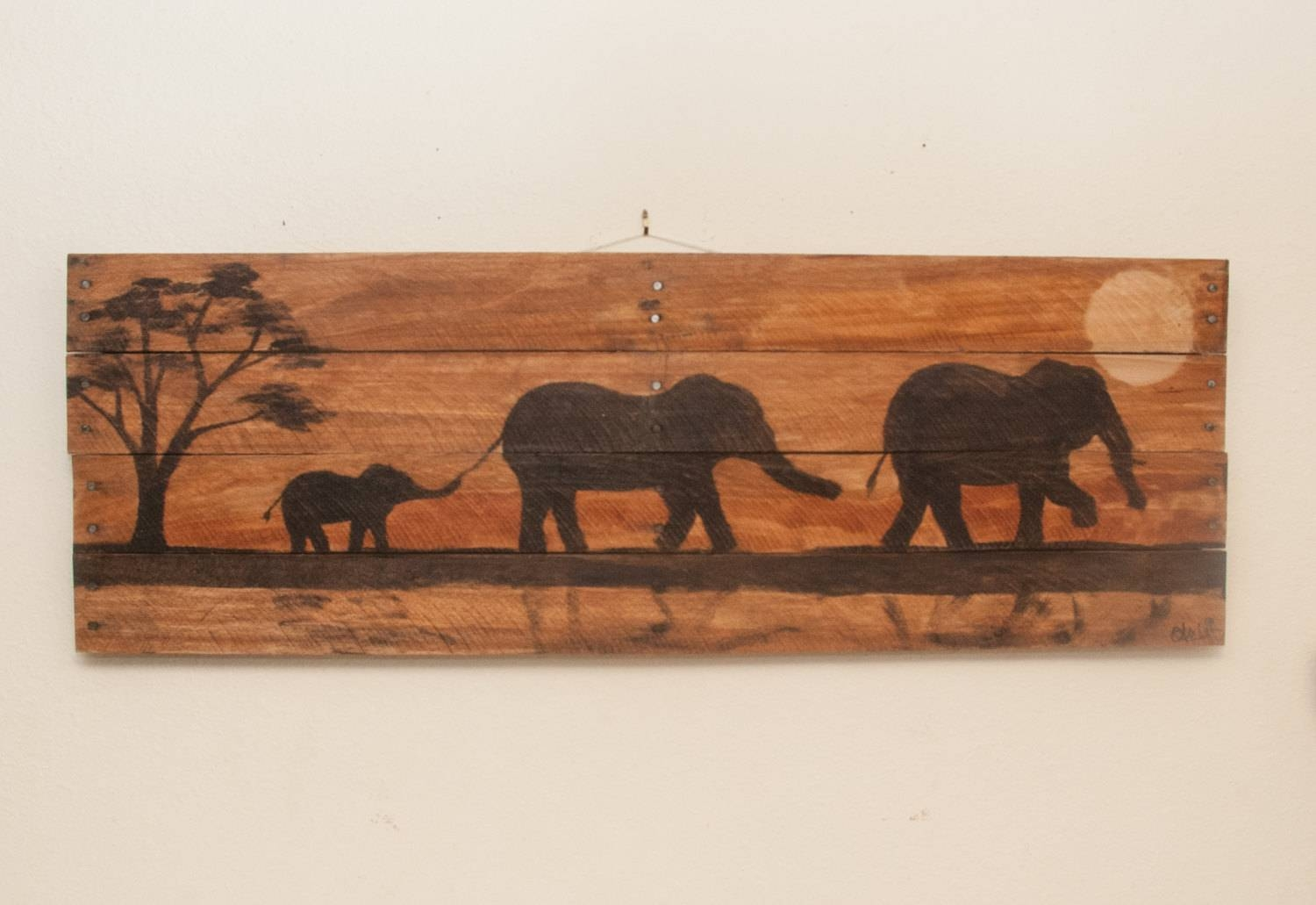 Art Painted On Wood 2018 Popular Wood Animal Wall Art