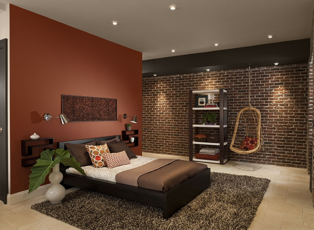 Bedroom With Red Accents 2018 Best Of Brown Wall Accents