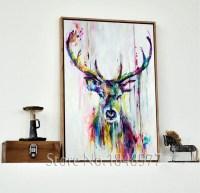 15 Ideas of Deer Canvas Wall Art