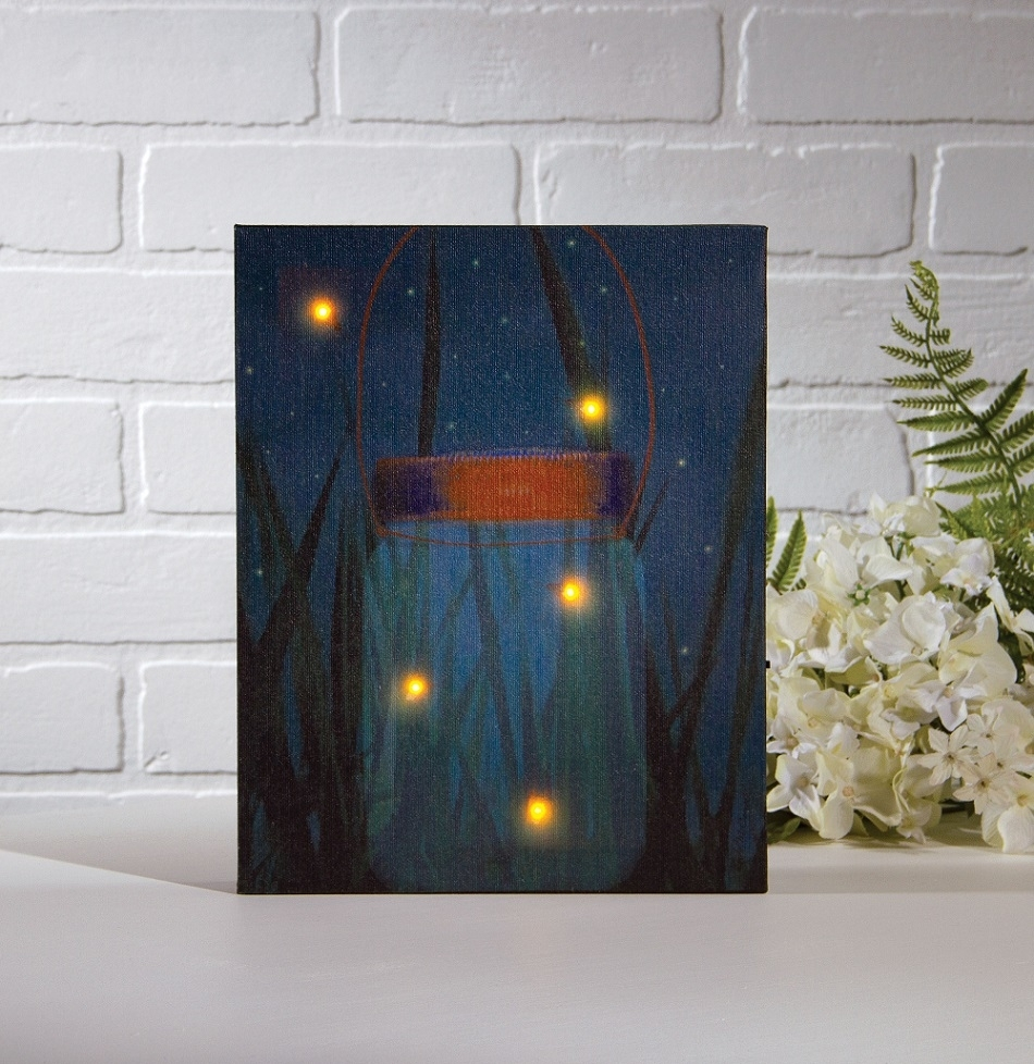 Firefly Jar Art View Gallery Of Halloween Led Canvas Wall Art Showing 10 Of 15
