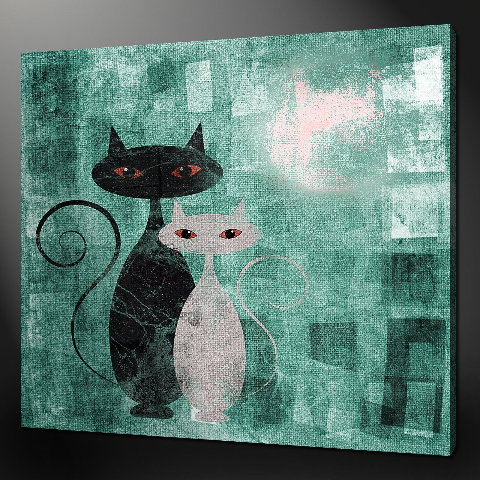 Cat Wall Art Metal 20 Best Cat Canvas Wall Art