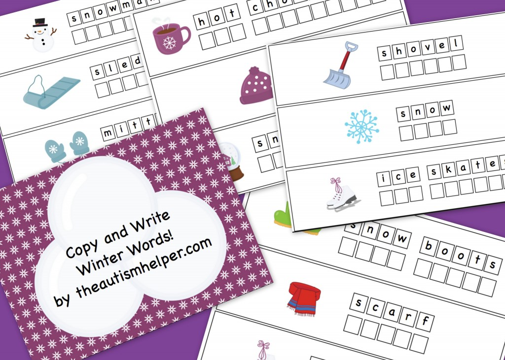 Free Friday Copy and Write Winter Words! - The Autism Helper