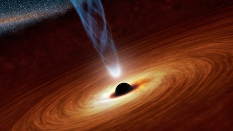 Artist's conception of a black hole: NASA/JPL-Caltech