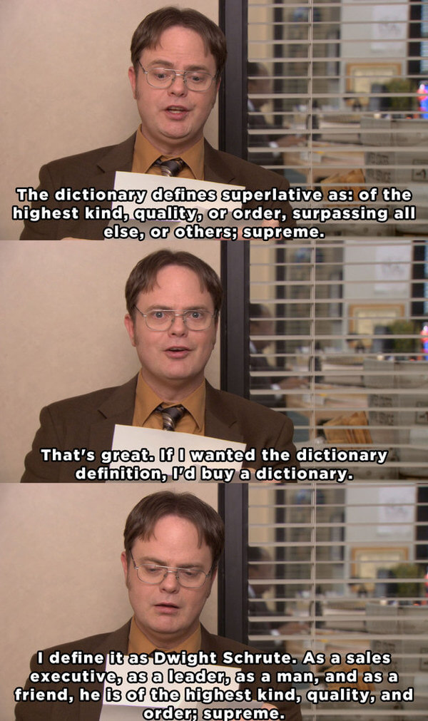 michael s recommendation letter to dwight