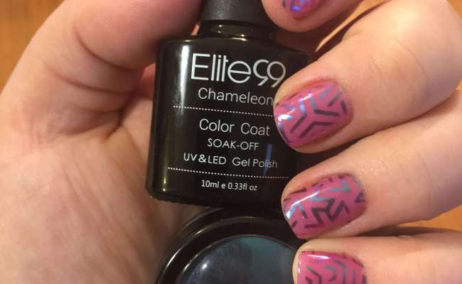 Learn How To Make This Cool Geometric Nail Art With Thermal Color Changing Base