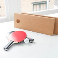 This Portable Table Tennis Set Uses Cork Wedges as Its Net