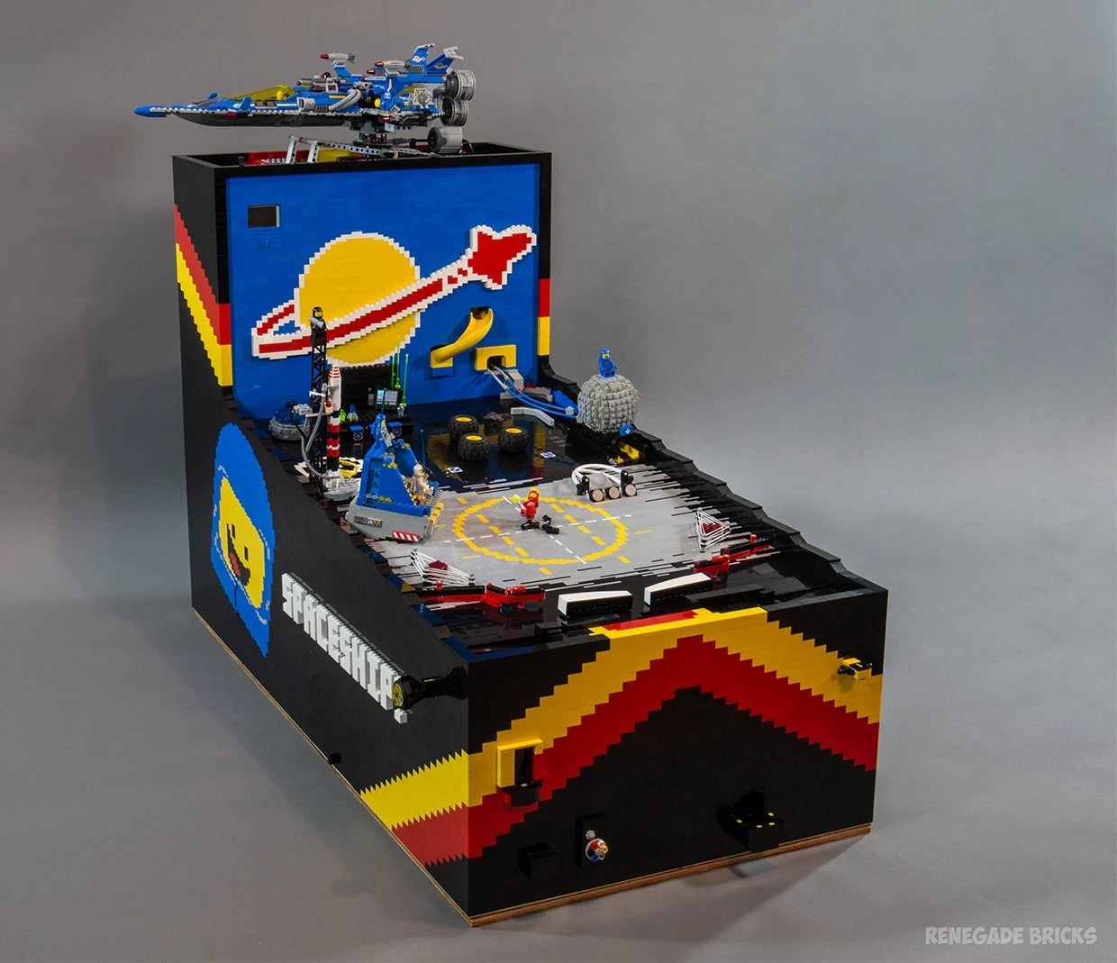 Cool Machines To Build A Working Pinball Machine Made Entirely From Lego Parts