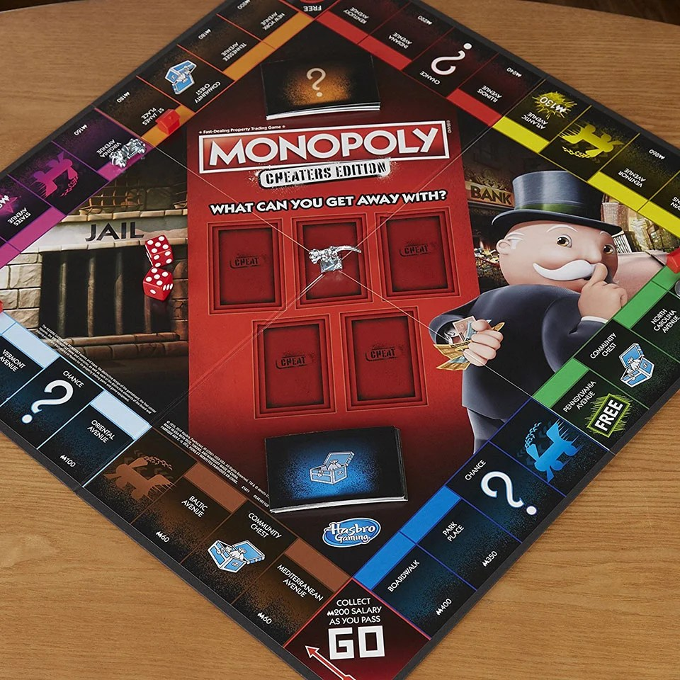 Monopoly Game Cheaters Edition This Version Of Monopoly Actively Encourages You To Cheat