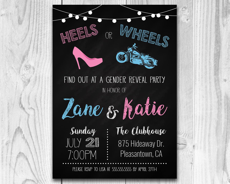 Heels Or Wheels Classic Motorcycle Printable Gender