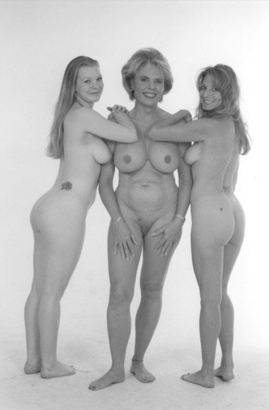 family portrait mother daughter nude