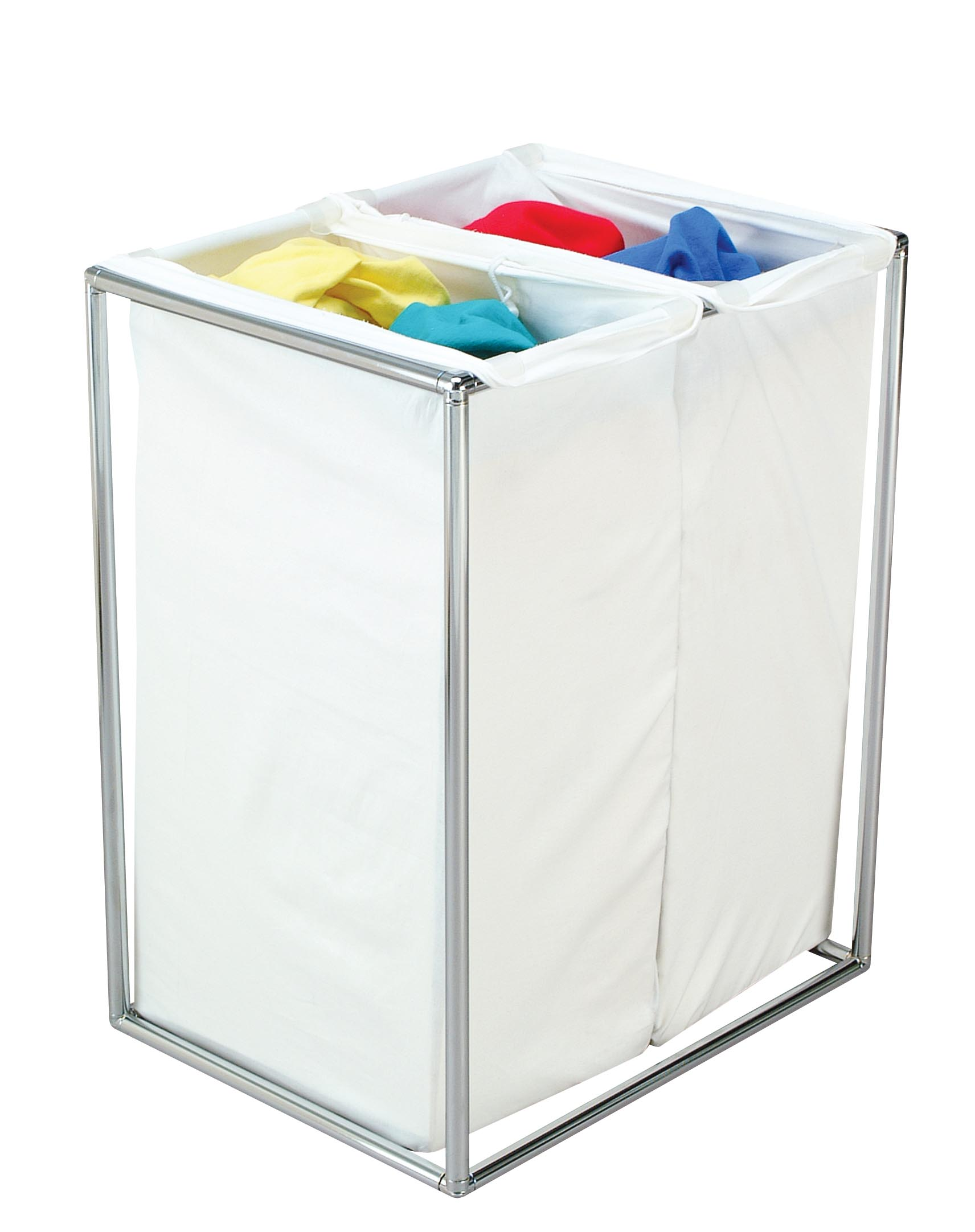 Chrome Laundry Basket Hamper The Bag Stand Company