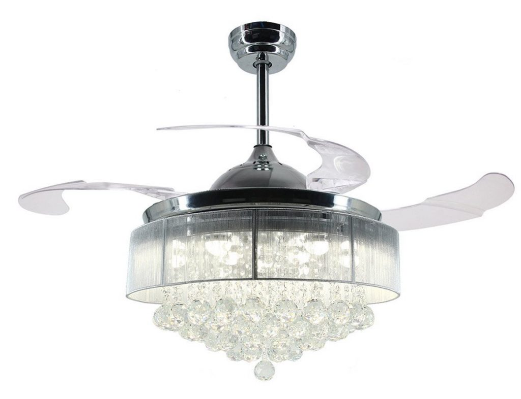 Ceiling Fan With Folding Blades Crystal Ceiling Fans Lights Guide To The Best Of 2019