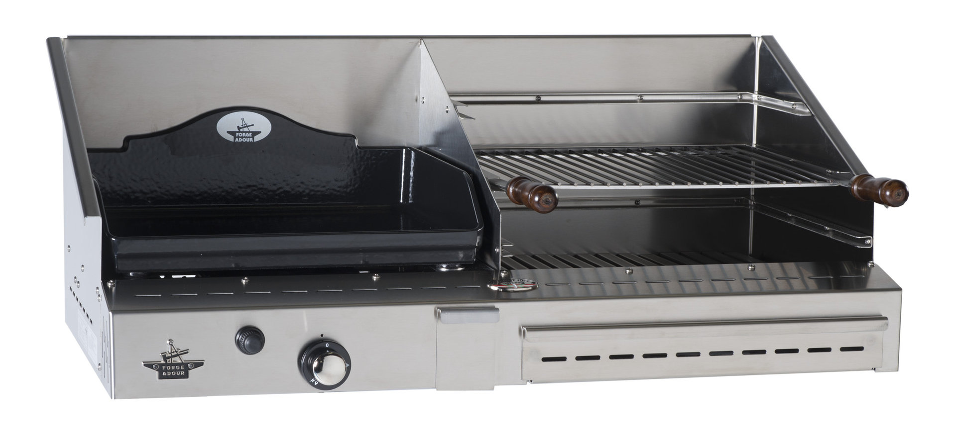 Barbacoas De Gas Y Carbon Duo Plancha De Gas Y Barbacoa 500 Inox The Barbecue Store