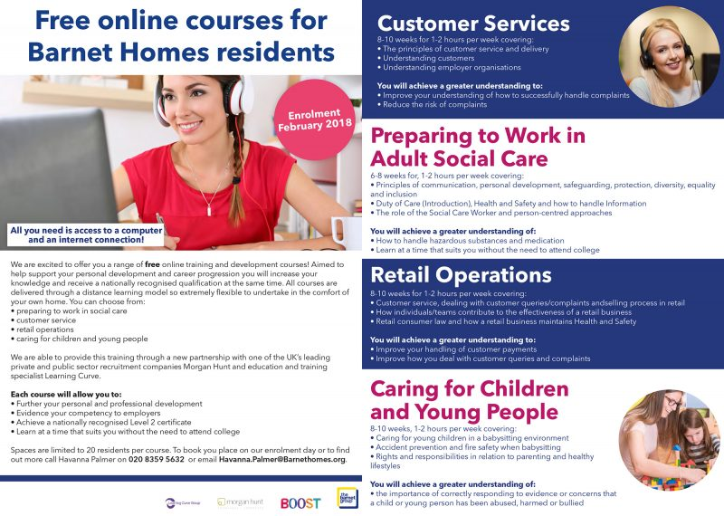 Free online accredited courses for Barnet Homes residents \u2013 Barnet Homes