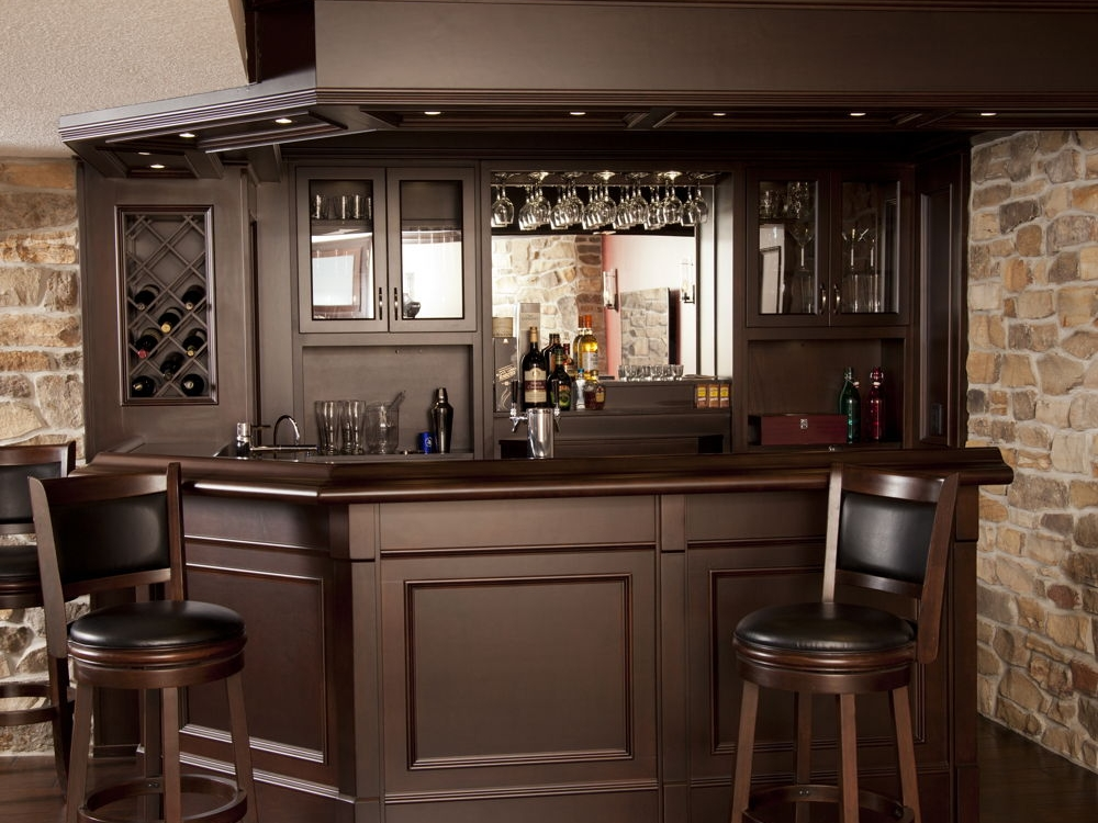 Basement Bar with Granite