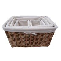 Buy Natural Wicker Lined Storage Basket from The Basket ...