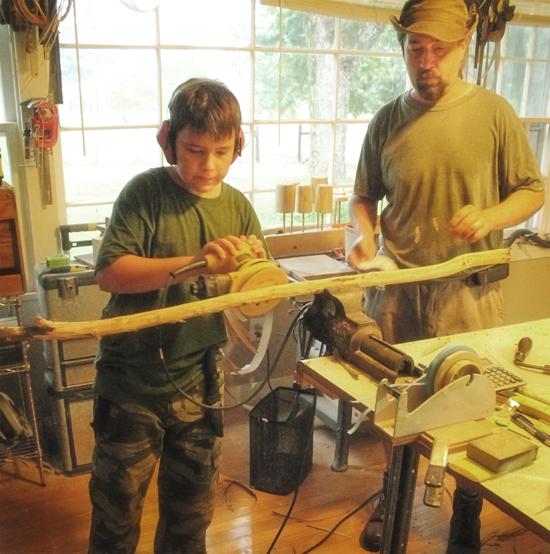 redneck-bootcamp-two-ben-sanding-wood