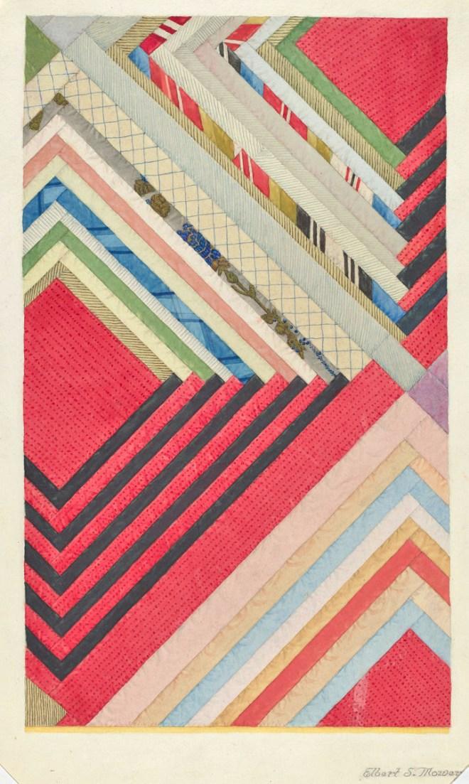 ArtW-ElbertMowery-SilkQuilt1941-WaterGraph