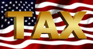 US Flag with Tax