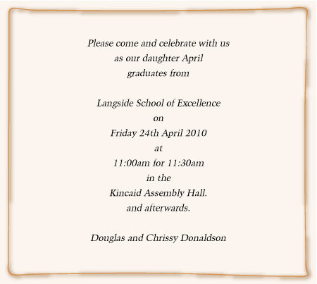 Graduation Invitation Wording Wording For Ball And Prom Invites