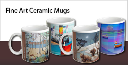 Fine Art Ceramic Mugs from The Bay Attic