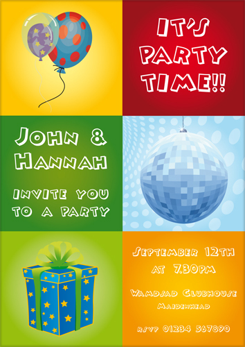 Personalised unique party invitation card design 10