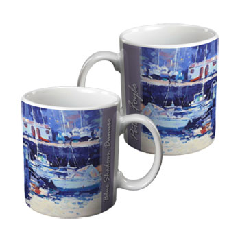 Blue Shadows Ceramic Mug by Peter foyle