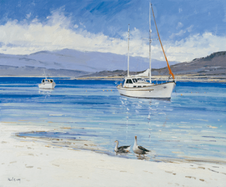 Geese on the White Sands of Morar ROBERT kELSEY