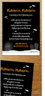 midnight Shadows Invite for Halloween