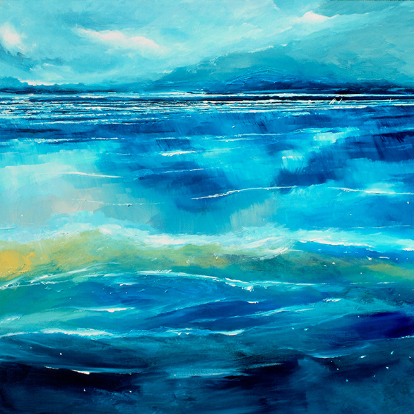 Stuart Roy - Liquid Blue Greeting Card