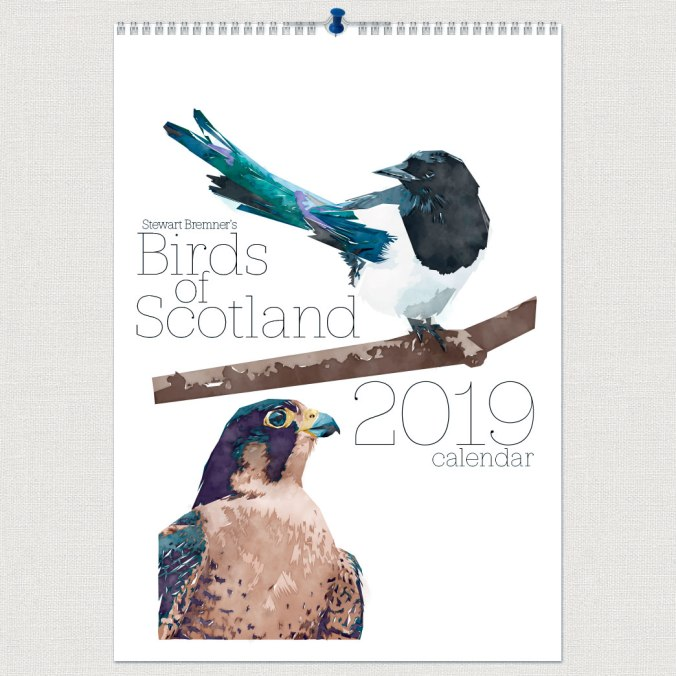 Stewart-Bremner-Birds-of-Scotland-2019-A4-Calendar