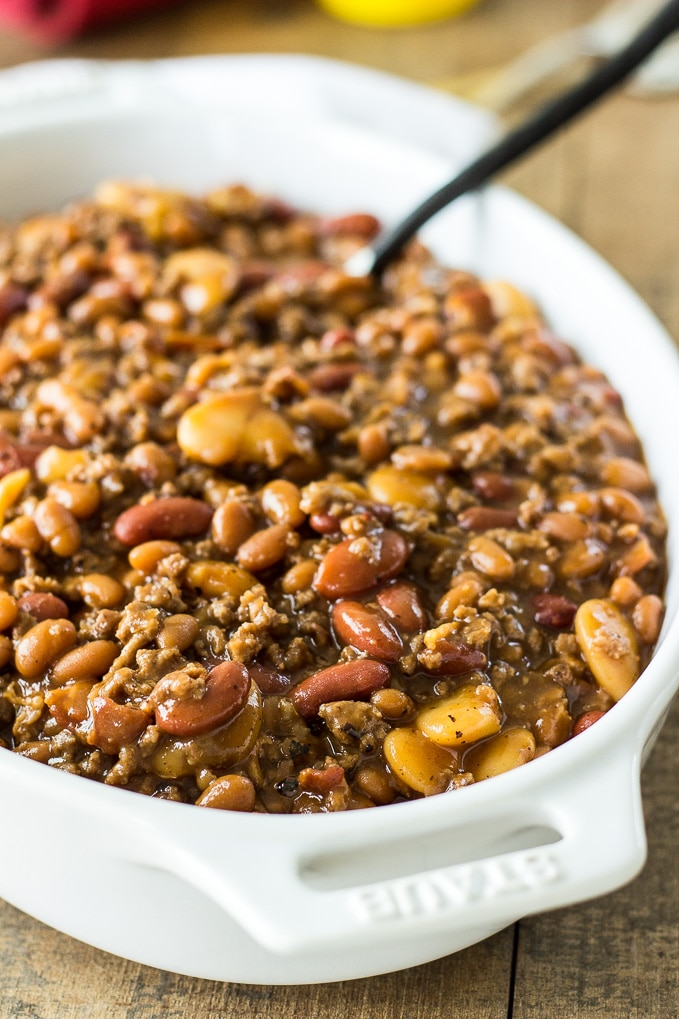 Baked Three Bean Casserole - The Beach House Kitchen
