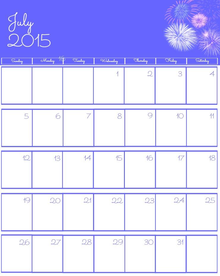 Free 2015 Printable Calendar The Bearfoot Baker