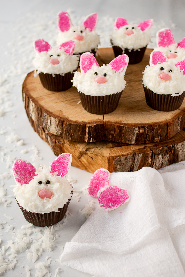 How to Make Cute Bunny Cupcakes The Bearfoot Baker