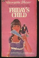 Cover of 1960s paperback edition of Friday's Child by Georgette Heyer