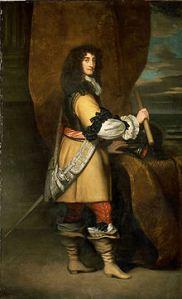 Painting of Prince Rupert in 17th Century Gentleman's Dress