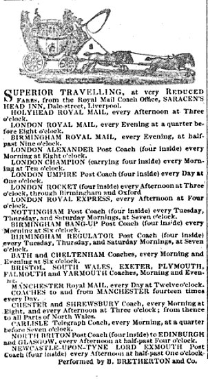 Mail advertisement from a period newspaper