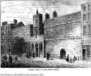 Print of exterior of the Fleet prison