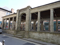 Columns of the market arcade