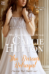 Cover for The Baron's Betrayal by Callie Hutton