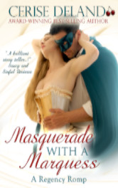 Cover image for MASQUERADE WITH A MARQUESS by Cerise DeLand