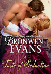 Cover image for A TASTE OF SEDUCTION by Bronwen Evans